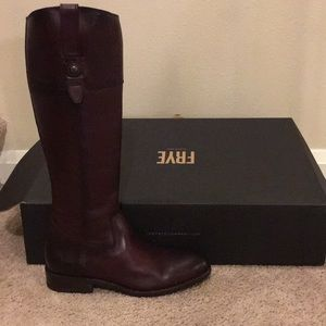 Brand New Frye Jayden Tall Bordeaux Button Boots